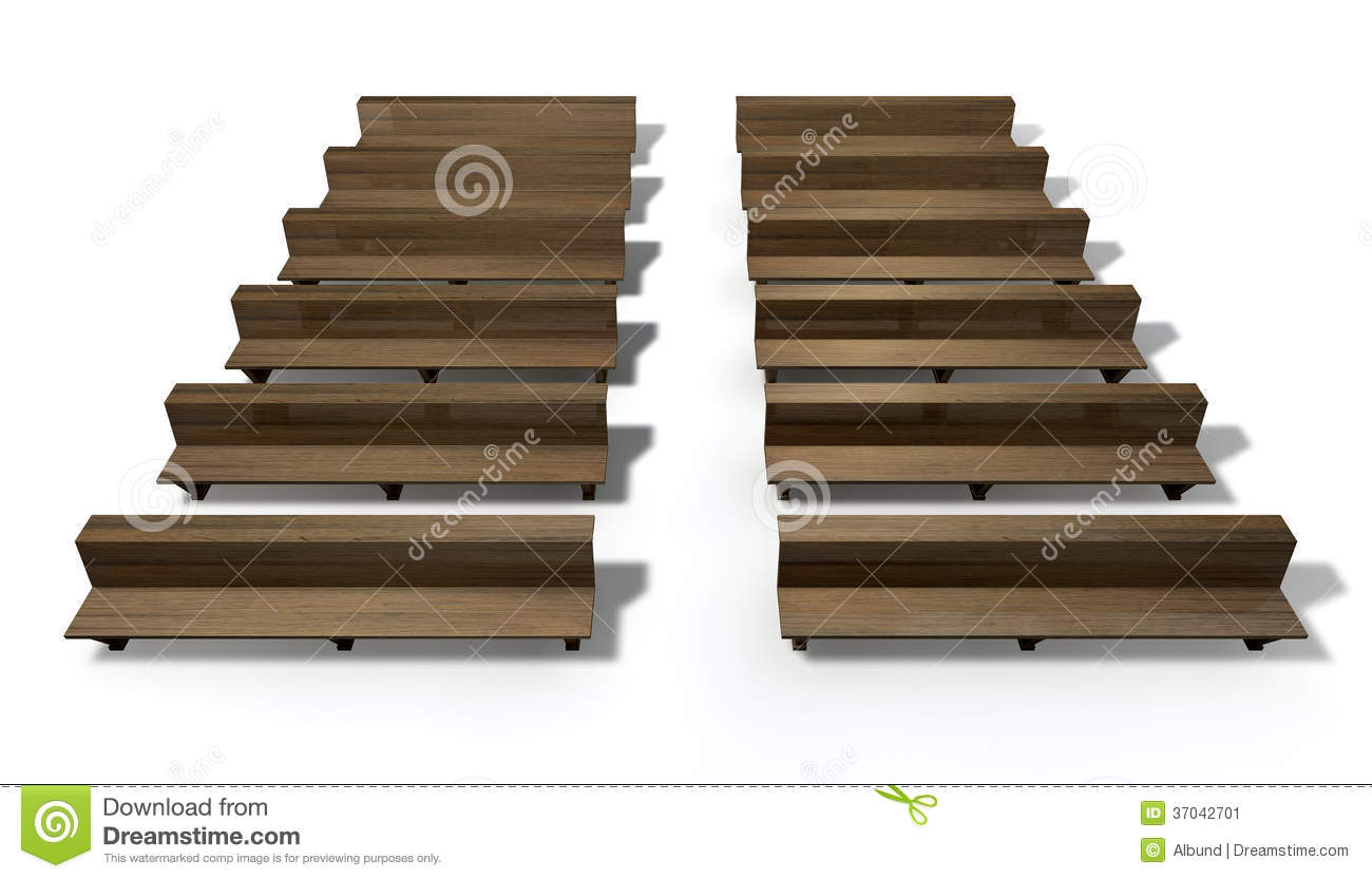 Church Pews Stock Illustrations.
