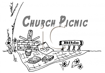 Royalty Free Clipart Image of a Church Picnic #207736.