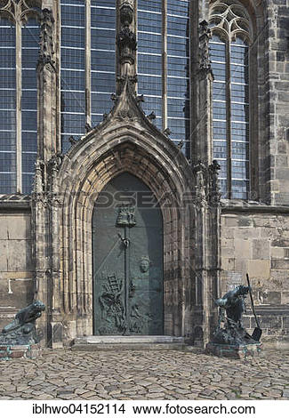 Stock Photo of Portal of Johanniskirche, or St. John's Church.