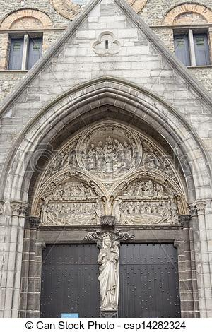 Stock Photo of Portal door to Our Lady Church.