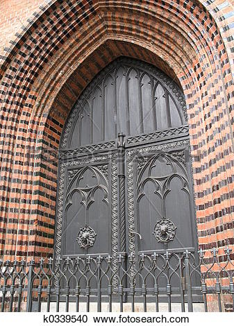 Stock Photography of church portal k0339540.