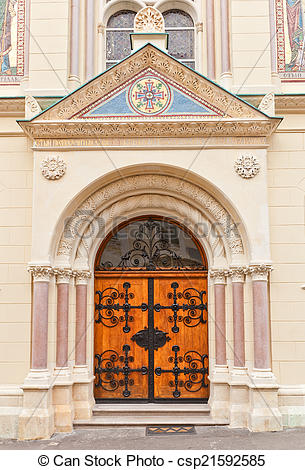 Pictures of Portal of Sts Cyril and Methodius church (1880.