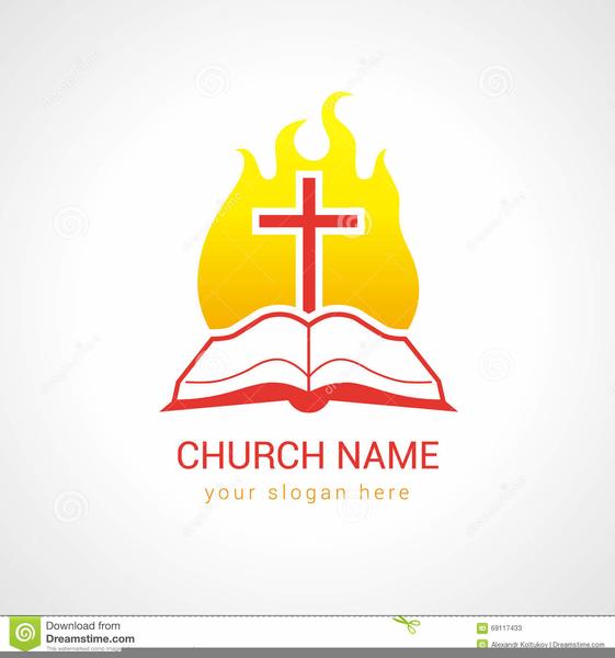Clipart Church Program Template.