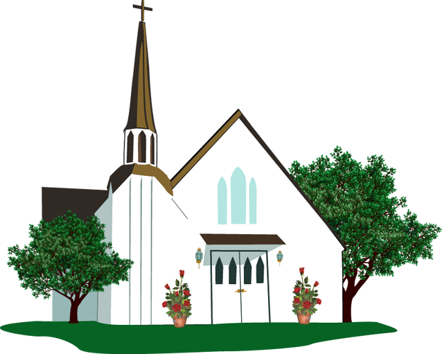 Christian religious clip art church image 5.
