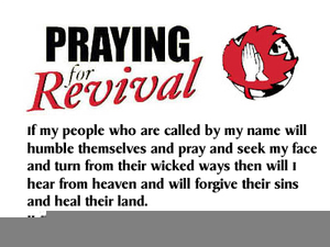 Church Revival Service Clipart.