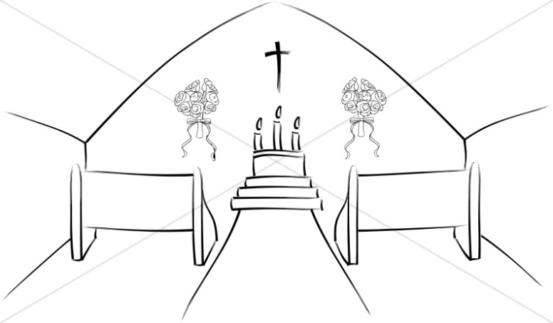 Church Sanctuary Clipart.