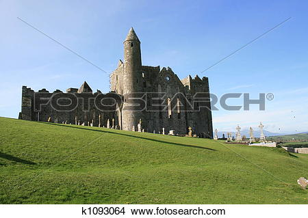 Stock Photo of Scenic Irish church ruins k1093064.