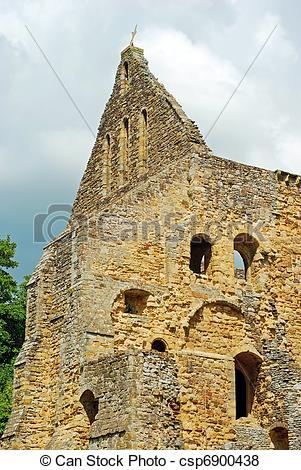 Pictures of church ruins Battle Abbey england.