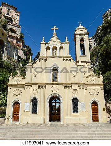 Stock Photography of Sainte Devote in Monte Carlo Monaco k11997041.