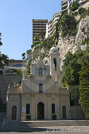 Church Of Saint Charles, Monaco Royalty Free Stock Images.
