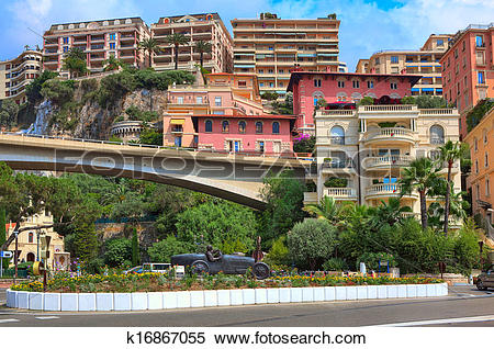 Stock Image of Racing car sculpture in the center of Monte Carlo.