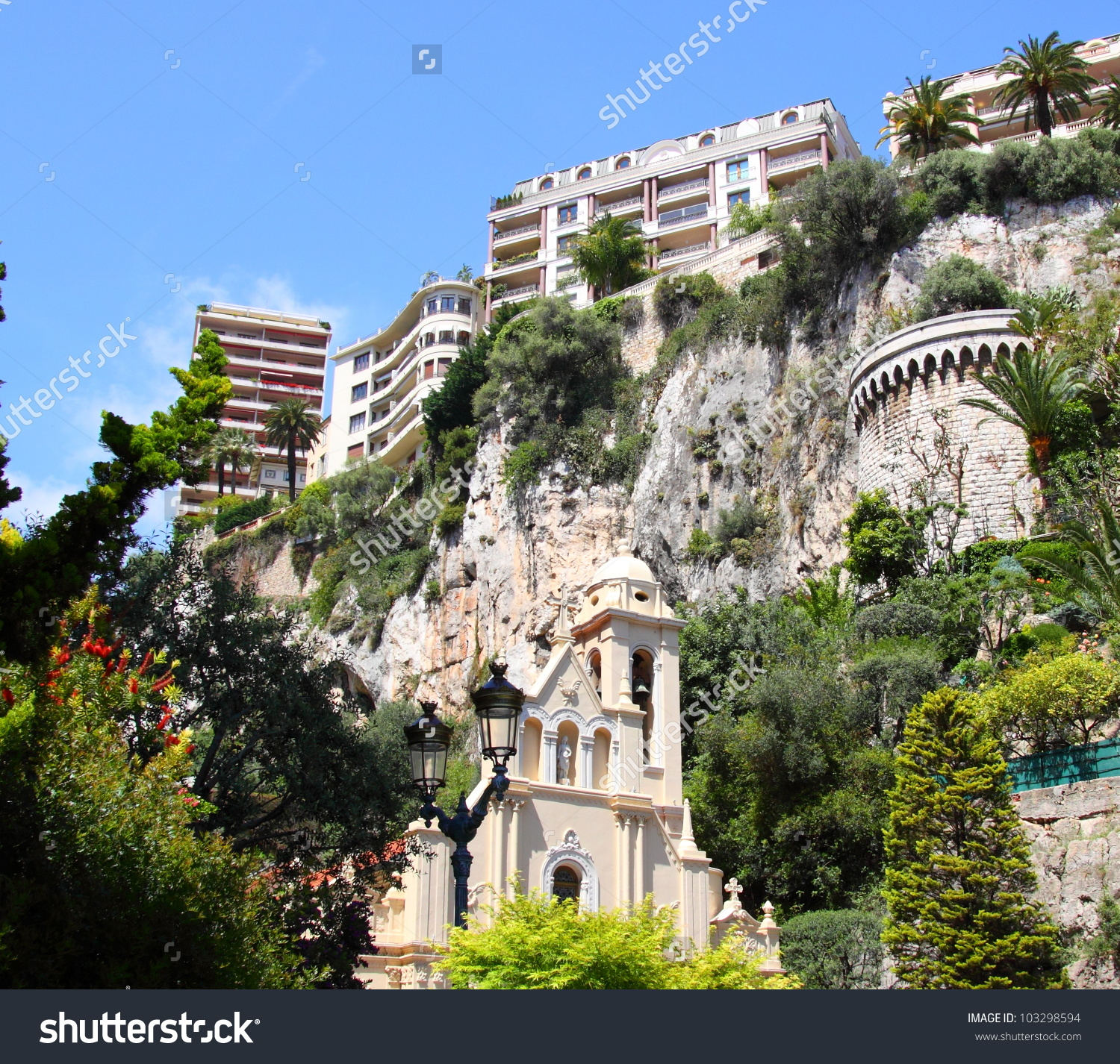 Sainte Devote Environment Monaco Monte Carlo Stock Photo 103298594.