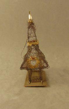 Sehr alter Christbaumschmuck, Sebnitz Ornament mit Schaf in.