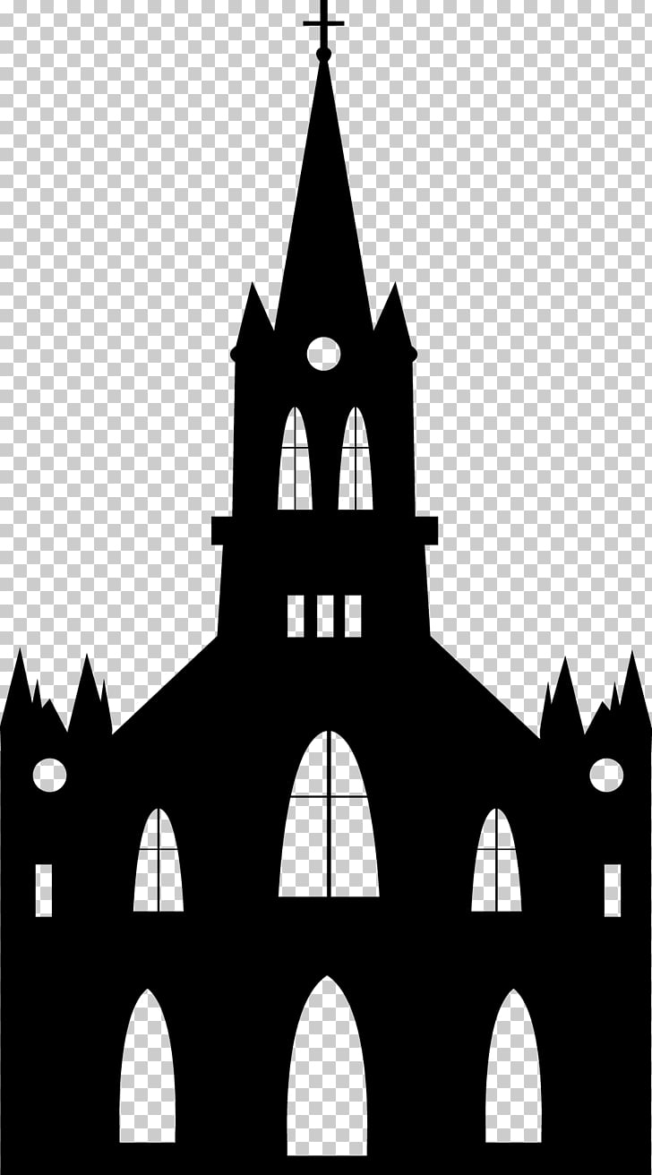 Euclidean Church Religion Silhouette, Castle Castle.