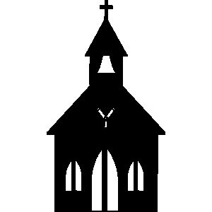 Church Steeple Clip Art Black And White.