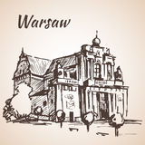 Exterior Church Square Cracow Poland Stock Illustrations.