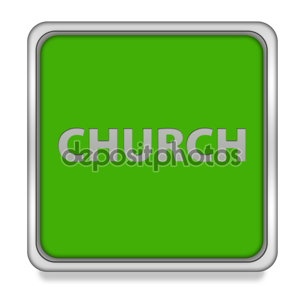 Church square icon on white background — Stock Photo © iconsmaker.