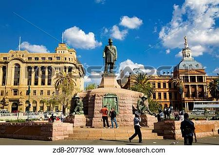 Stock Photo of kruger monument at church square in Pretoria. zd8.