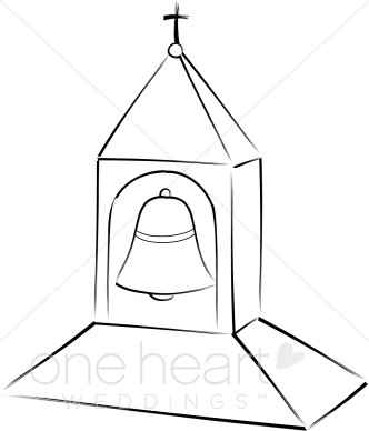 Church Steeple Clipart Black And White.