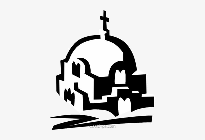 Greek Church Royalty Free Vector Clip Art Illustration.