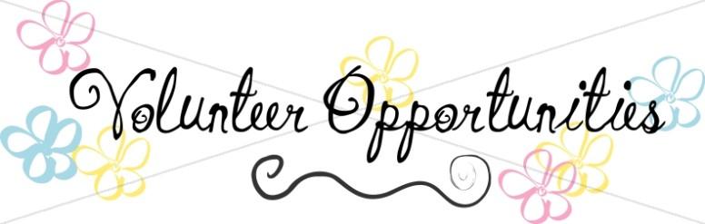 Church Volunteer Opportunities.