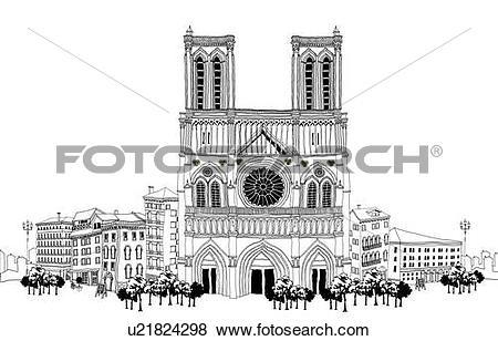 Stock Illustration of Church facade u21824298.