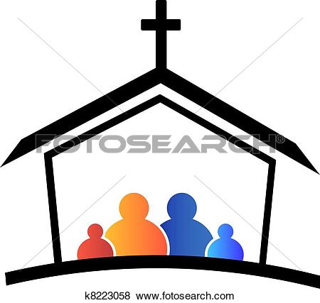 Stock Illustration of Church family faith logo k8223058.