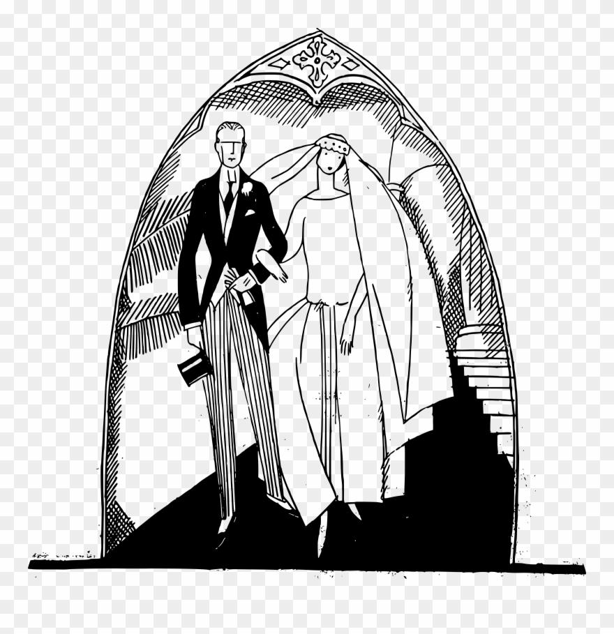 Couple Clipart Church Wedding.