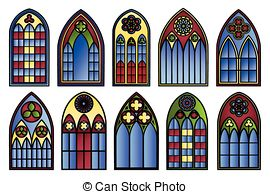 Stained Glass Clipart Church Window.
