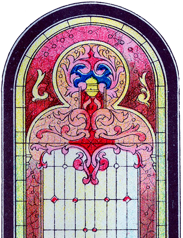 Beautiful Stained Glass Church Window Clip Art!.