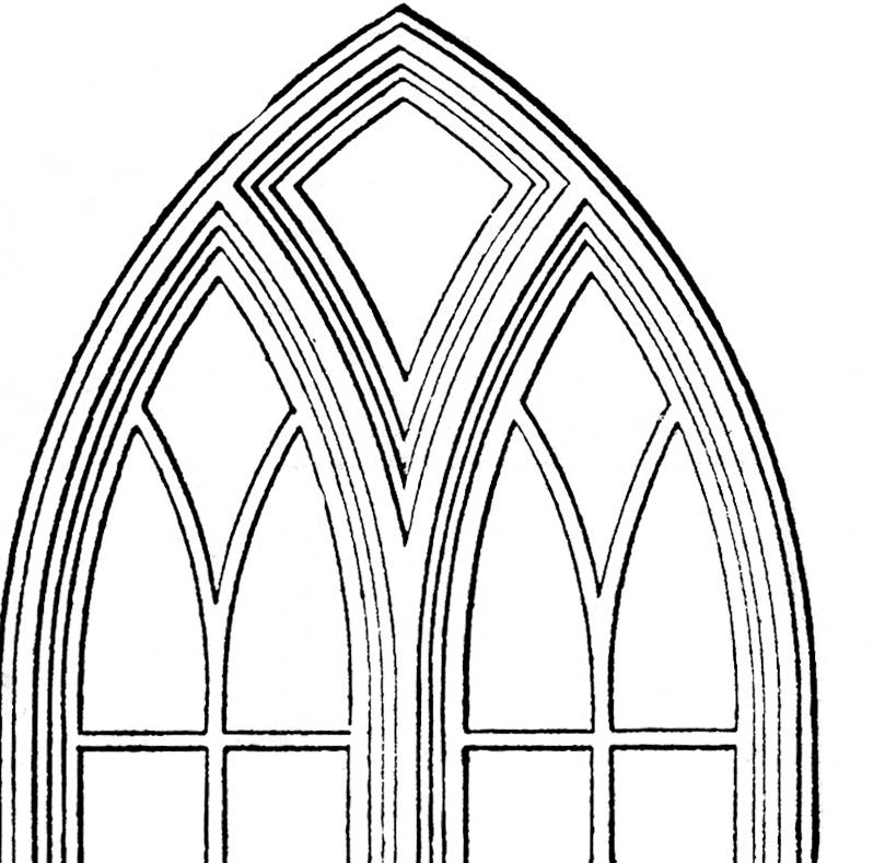 Church window clipart #12