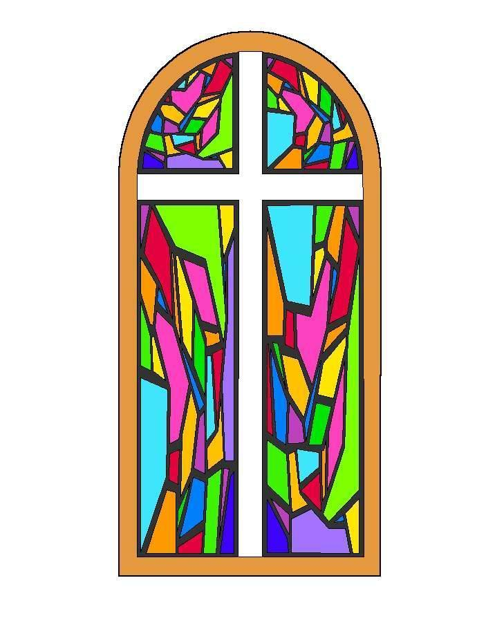 Stained glass church window clipart.