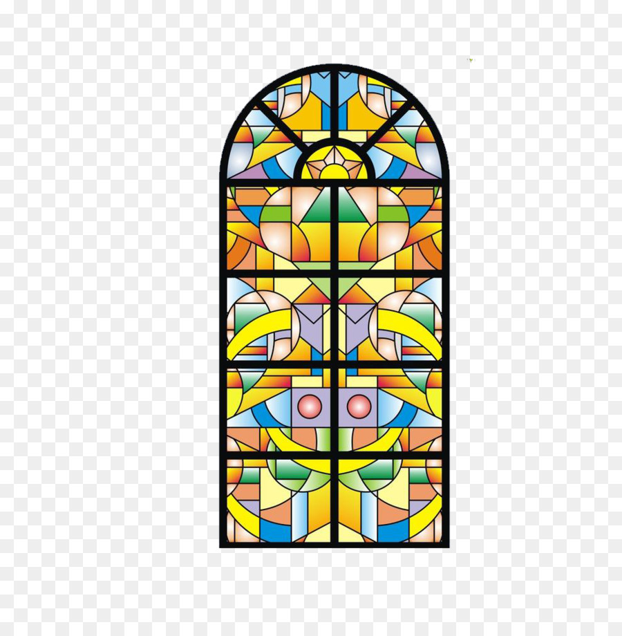 Stained Glass Euclidean Vector.