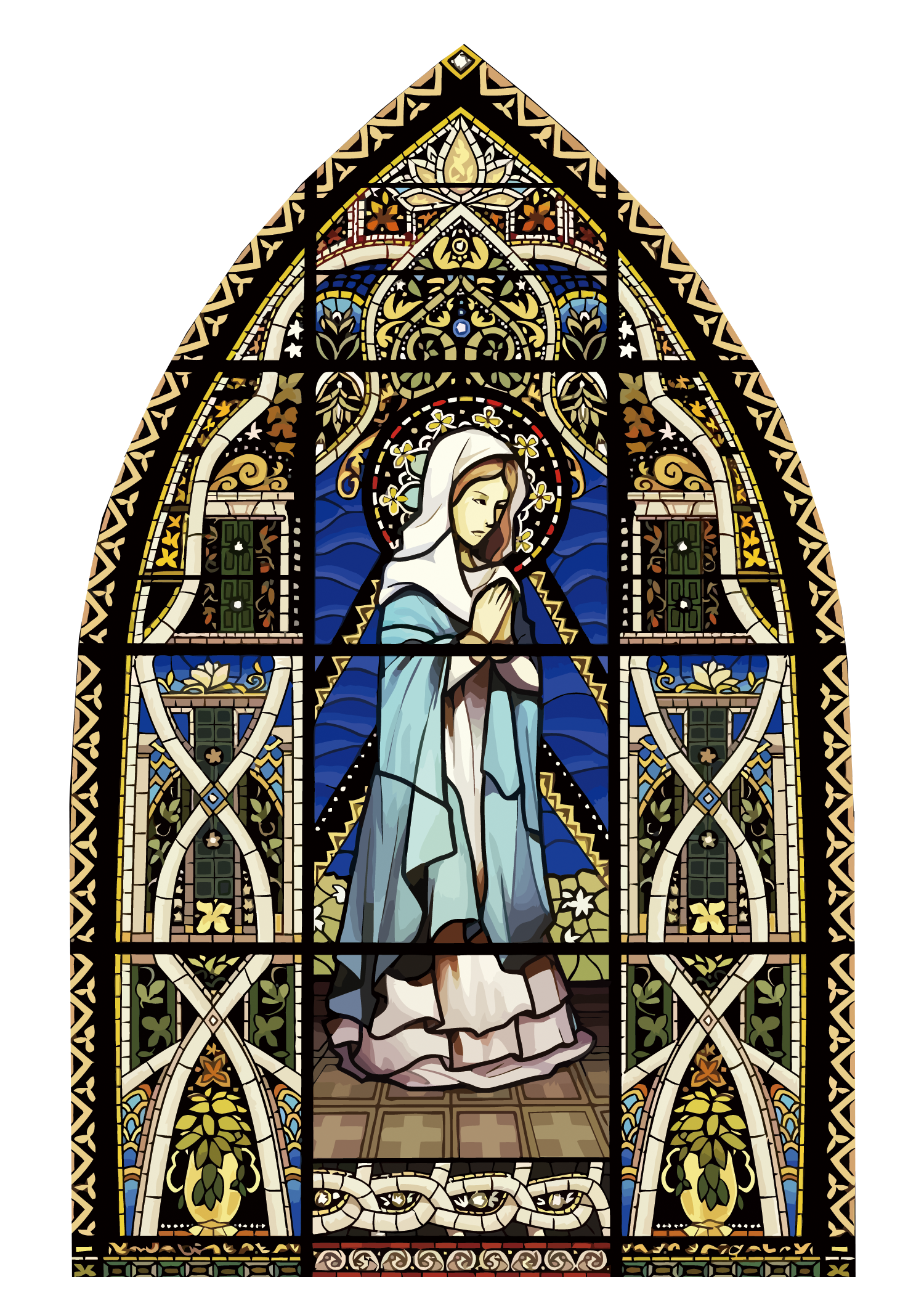 Download Of Stained Glass Window Vector Church The Clipart PNG Free.
