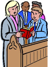 Church Singing Clipart.