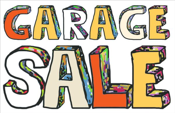 Garage sale yard sale yard garage clipart.