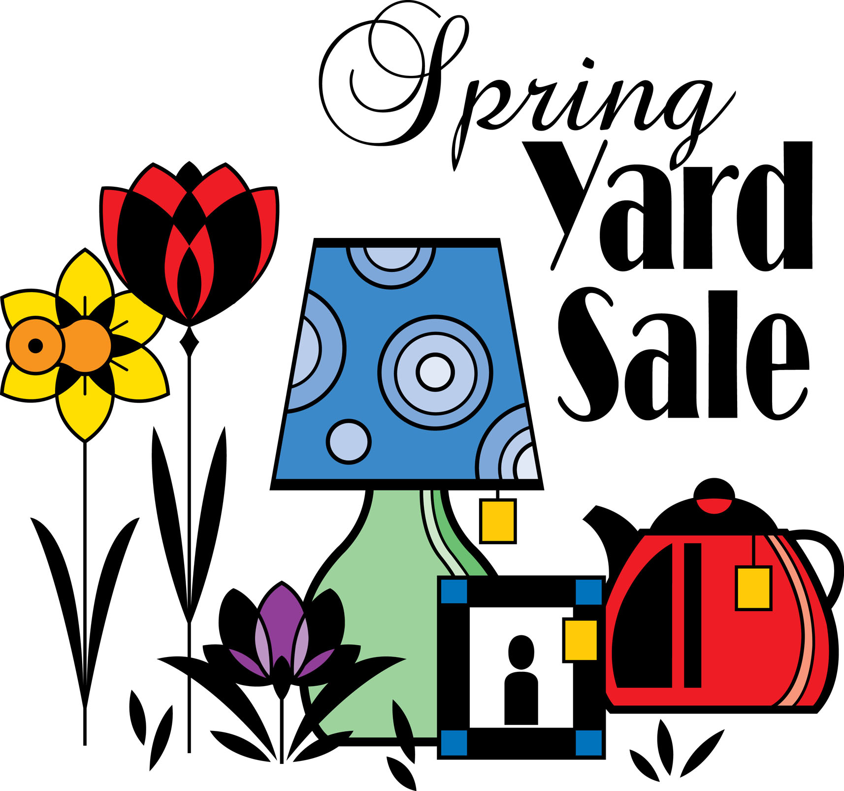 Church yard sale clipart.