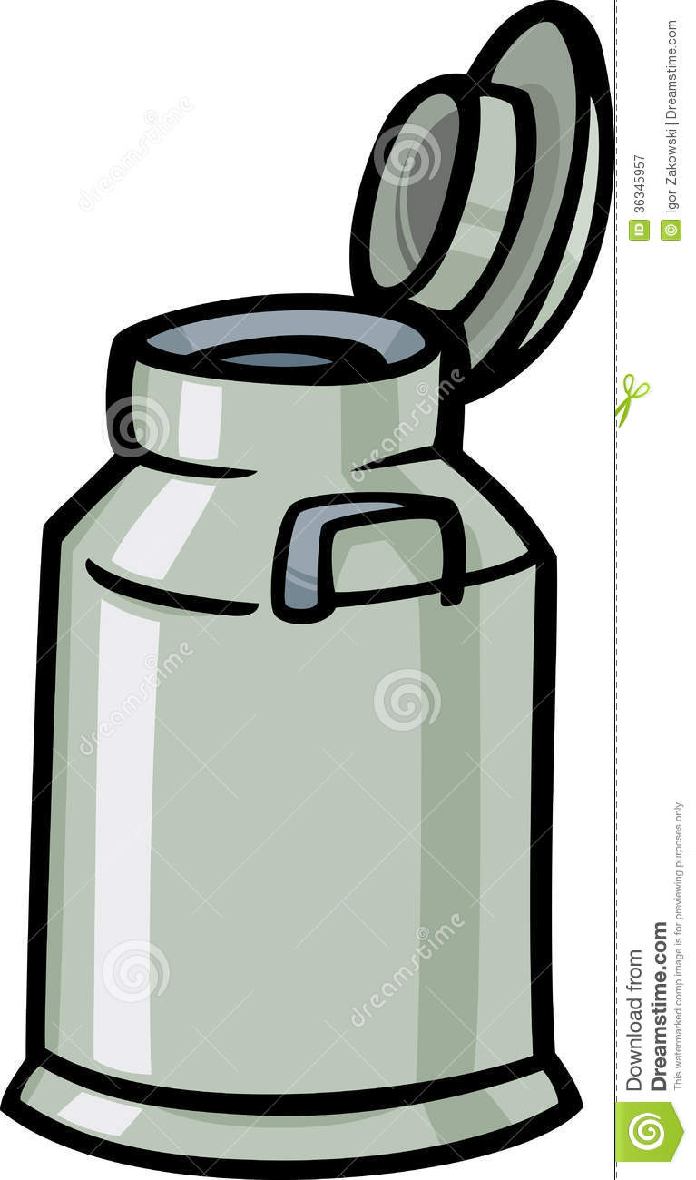 Milk Can Or Churn Cartoon Clip Art Royalty Free Stock Photography.