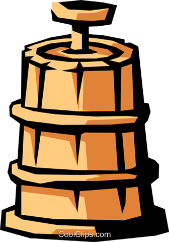 butter churn Royalty Free Vector Clip Art illustration.