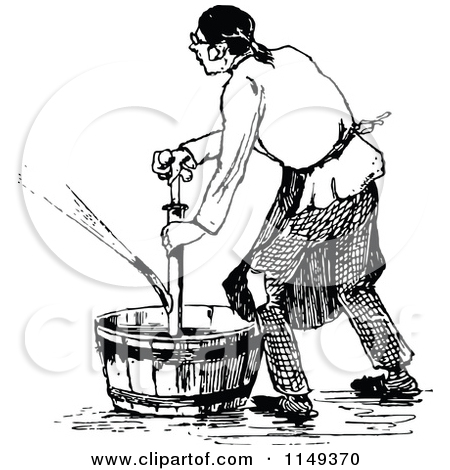 Churning Butter Clip Art Images.