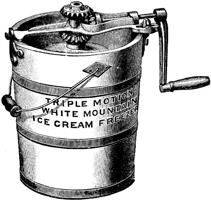 Churning Ice Cream Clip Art.