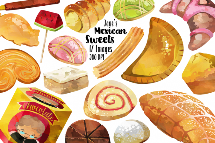 Watercolor Mexican Pastries Clipart in 2019.