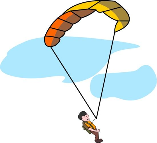 Box Drop Parachute Clipart.