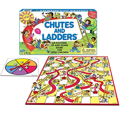 HASBRO GAMING:Chutes and Ladders Board Game.