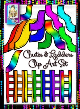 Clip Art~Chutes and Ladders Kit.