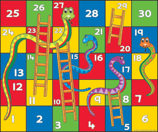 Snakes And Ladders Game Clipart.