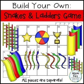 Build Your Own Snakes and Ladders Board Game.