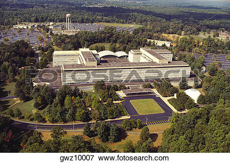 Picture of Aerial view of a government building, CIA headquarters.