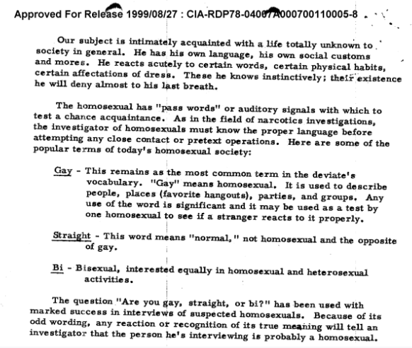 """FOIA Shows How CIA Broke Down """"Some of the Popular Terms of Today's."""