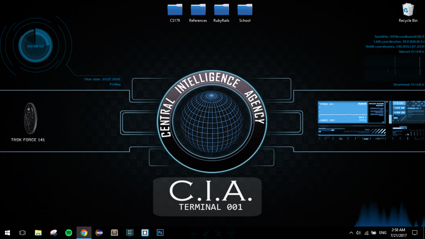 CIA Terminal with rotating TaskForce Emblem and Gl by pjeanjaquet on.